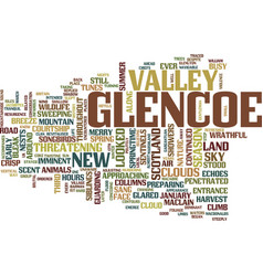 Landscapes of scotland glencoe text background vector