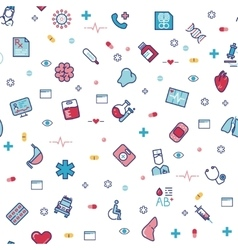 Medical healthcare seamless pattern with vector image vector image