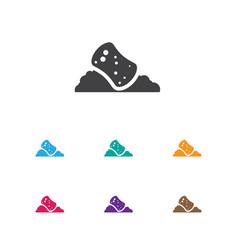 of cleanup symbol on sponge vector image vector image