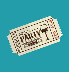 Party entrance ticket icon vector
