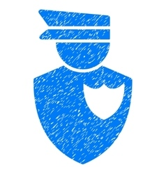 Policeman Grainy Texture Icon vector image
