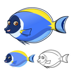 Powder Blue Surgeon Fish vector image