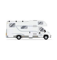 Rv mobile home truck vector image