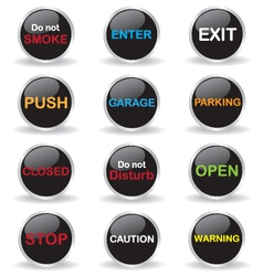 Signs button vector image vector image
