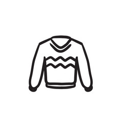 Sweater sketch icon vector
