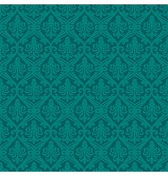 Turquoise seamless royal background vector