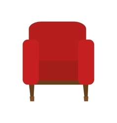 Tv chair isolated icon vector