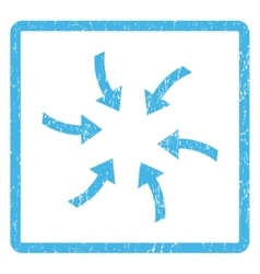 Twirl arrows icon rubber stamp vector