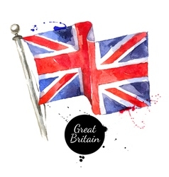 Watercolor great britain united kingdom flag hand vector