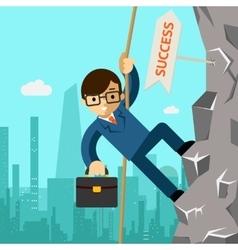 Way success businessman aspires to leadership vector