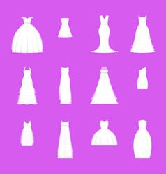 wedding dresses set on mannequin vector image vector image