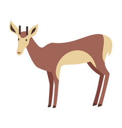 Young deer in flat design vector
