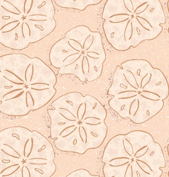 Kelp forest yellow textured sand dollars vector image