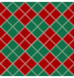 Red Green White Chess Board Background vector image