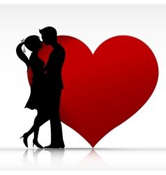 002 man and woman couper kissing with love vector
