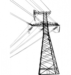 High voltage electric line vector