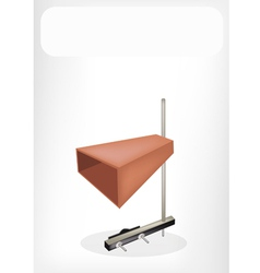 The musical cowbell with a white banner vector