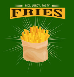 French fries unhealthy fast food snack potato vector