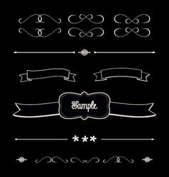 Blackboard shabby chic design elements dividers vector image