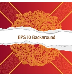 Background with ornate floral pattern vector