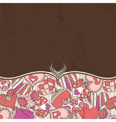 Background with valentine hearts vector