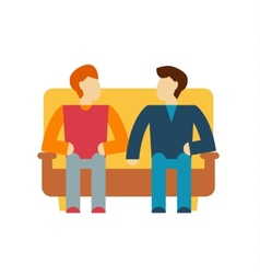 Friends and friendly relationship icon vector