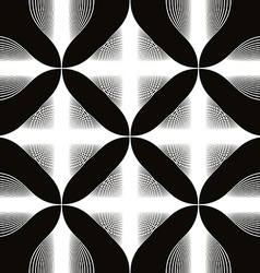 Black and white abstract seamless background vector
