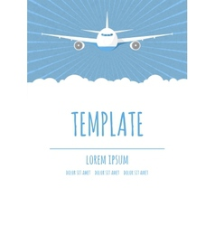 Travel poster template vector