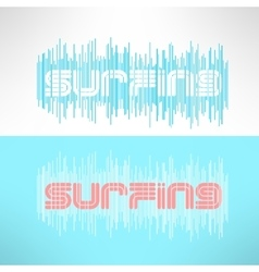 Surf typography with stripes t-shirt vector