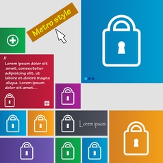 Lock icon sign buttons modern interface website vector