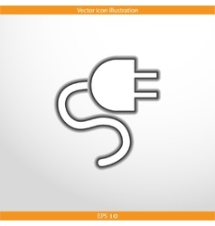 Electrical plug web icon vector
