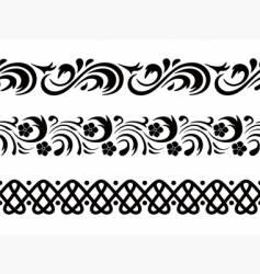 seamless border vector image