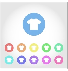 T-shirt round icon set vector