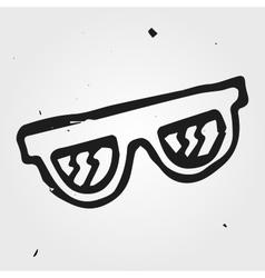 sunglasses hand drawn vector image