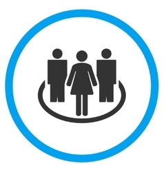 People society circled icon vector