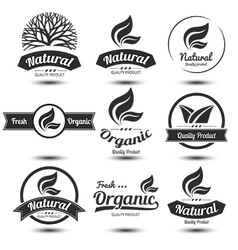 Nature label 2 vector