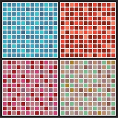Set of mosaic background vector