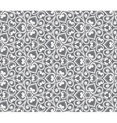 Abstract grey seamless hand-drawn pattern vector image vector image