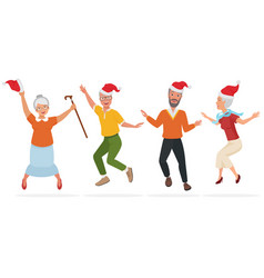 adult people in christmas vector image vector image