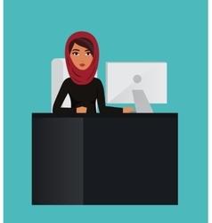 Arab business woman teacher profession Muslim vector image