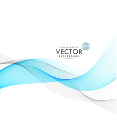 Beautiful blue and gray waves blending on white vector