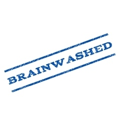 Brainwashed watermark stamp vector
