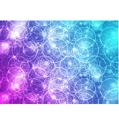 bright glowing shiny rings abstract background vector image