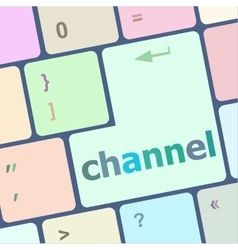 Channel button on computer pc keyboard key vector