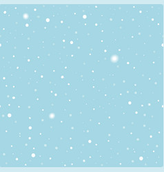 Christmas clean seamless pattern with snow vector