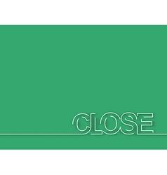close text design element vector image