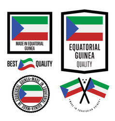 Equatorial guinea quality label set for goods vector