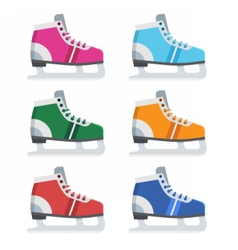 Figures skates set vector