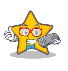 Gamer star character cartoon style vector