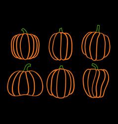 halloween six pumpkin 5 vector image